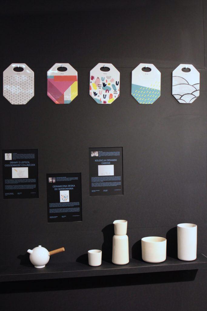 Ceramiczna deska do serwowania / projekt: BVSK / producent: BOGUSLAVSKAYA, Kolekcja ceramiki Canvas / projekt: Katarzyna Gołuszka i Michał Załuski / Mleko Living / producent: Mleko living